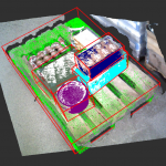 Panoptic 3D Mapping and Object Pose Estimation Using Adaptively Weighted Semantic Information